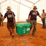 SRTs Dave Hallett and Adrian Sumner at Haloweyn Refugee Camp, Dolo Ado, Somali Region, Ethiopia