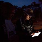 SRT Dave Hallett checks the Gmail account via ipad at , Dolo Ado, Somali Region, Ethiopia