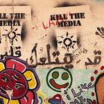 Kill The Media, street art in Hamra, Beirut, Lebanon
