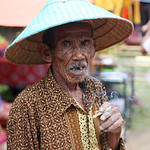 Old man, Sumatra, Indonesia
