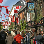 The London Inn-Padstow-Obby Oss day-Cornwall-UK