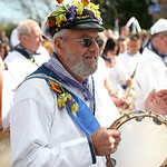 Musican-Padstow-Obby Oss-Cornwall-UK