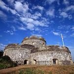 St Mawes Castle , Roseland Peninsula , Cornwall UK