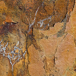 Abstract close-up of rusting iron on White Island, Bay of Plenty, New Zealand