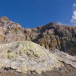 Volcanic landscape on White Island, Bay of Plenty, New Zealand